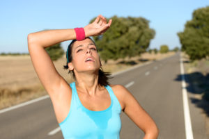 Workout and avoid heat exhaustion.