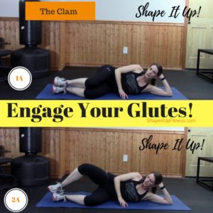 Get Strong Glutes - The Clam - Shape It Up