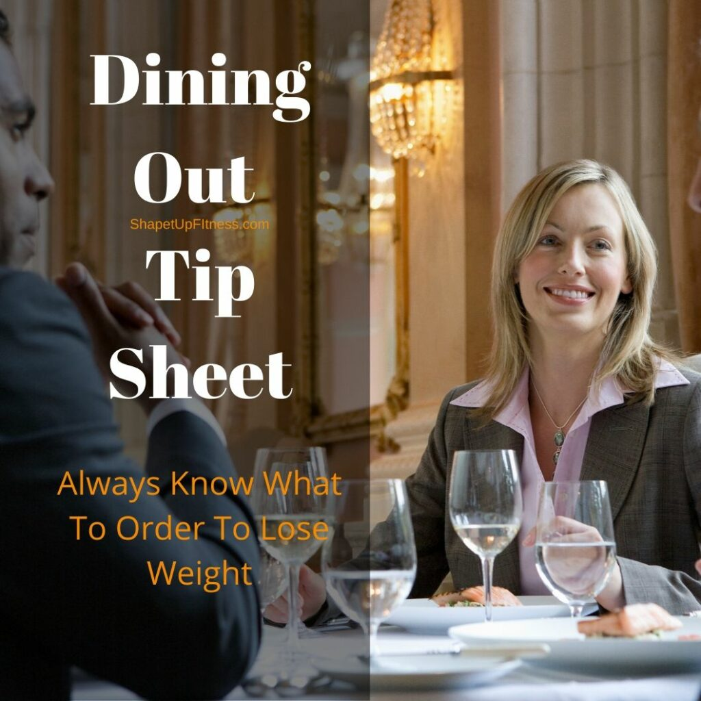 Dining Out Tip Sheet Shape It Up Fitness Nicole Simonin